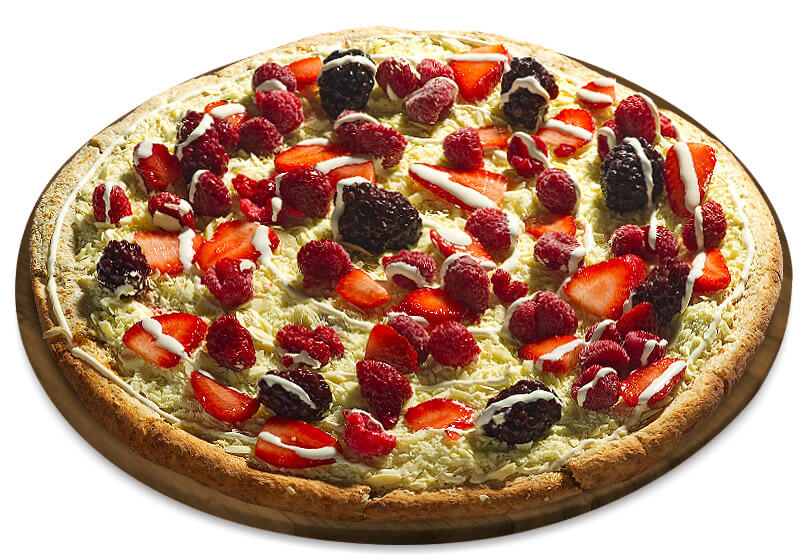 Frutas vermelhas com chocolate branco