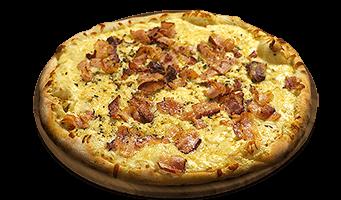 Bacon aos quatro queijos